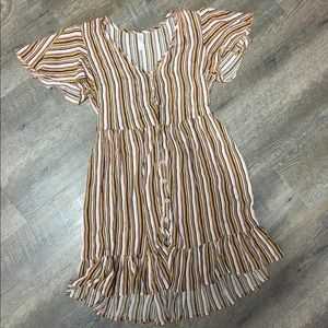 Xhilaration stripped colores dress
